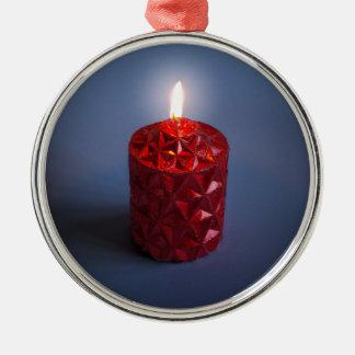 Shining candle christmas ornament