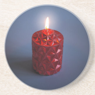 Shining candle coaster