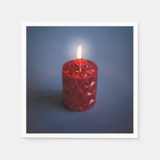 Shining candle paper serviettes
