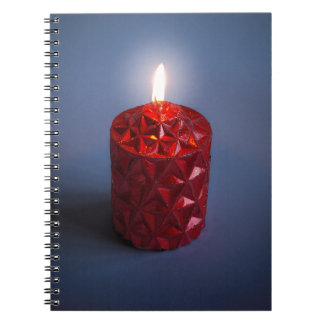 Shining candle spiral notebook