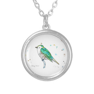 Shining Cuckoo Silver Plated Necklace