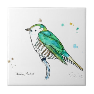 Shining Cuckoo Small Square Tile