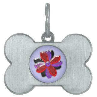 Shining Daisy Flower Pet Tag