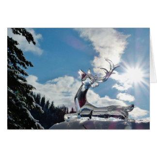 Shining Deer Christmas Greeting Card