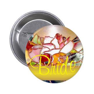 Shining Flower Wedding Buttons golden