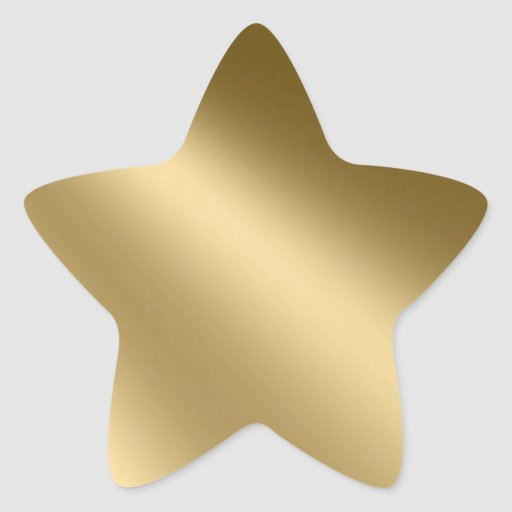 Shining Gold Star Seals Stickers