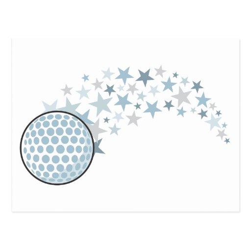 Shining Golf Star Postcard