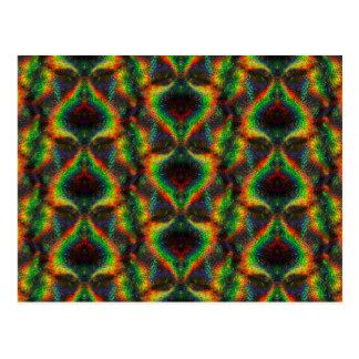 Shining Holographic Rainbow Lights Glitter Leaf Postcard