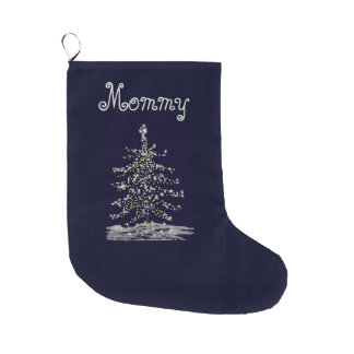 Shining in the Dark Customizable Template Large Christmas Stocking