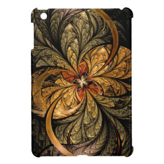 Shining Leaves Fractal Art iPad Mini Covers