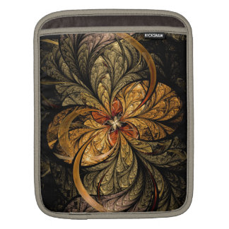 Shining Leaves Fractal Art iPad Sleeve