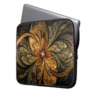 Shining Leaves Fractal Art Laptop Sleeve