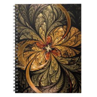Shining Leaves Fractal Art Notebook