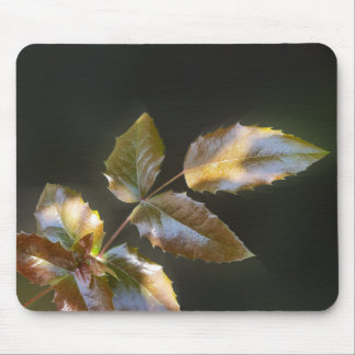 shining leaves mouse mat