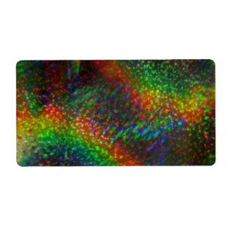 Shining Lights Holographic Glitter Rainbows Shipping Label