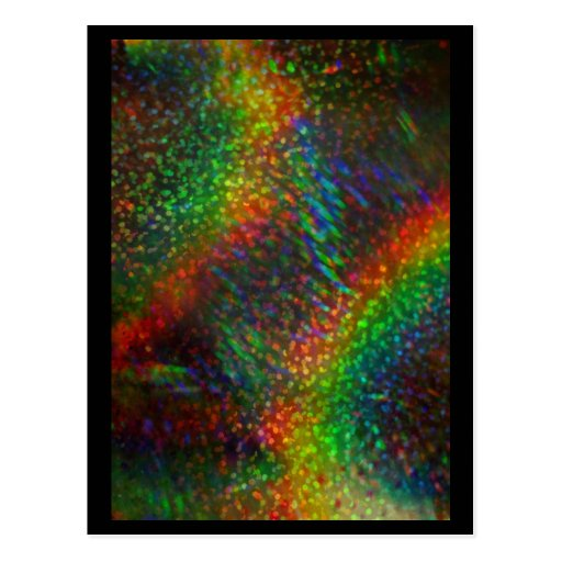 Shining Lights Holographic Glitter Rainbows Postcard