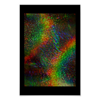 Shining Lights Holographic Glitter Rainbows Poster