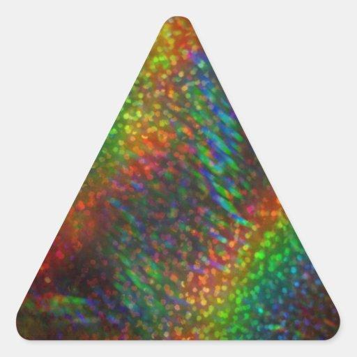 Shining Lights Holographic Glitter Rainbows Triangle Sticker
