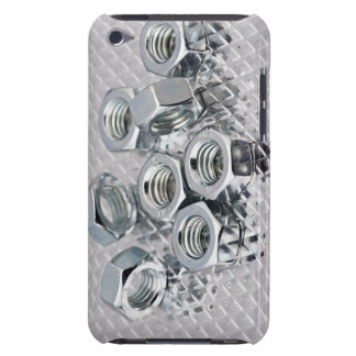 Shining metallic composition barely there iPod cases