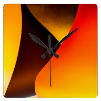 Shining Murano Glass Square Wall Clock
