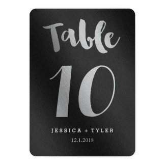 Shining Promise Double Sided Table Number Card 13 Cm X 18 Cm Invitation Card