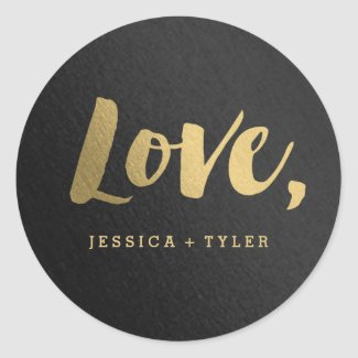 Shining Promise Love Wedding Favour Sticker