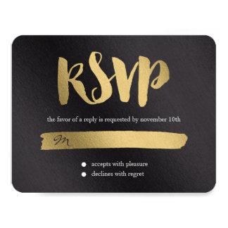 Shining Promise Wedding RSVP Card