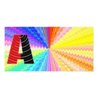 Shining Rainbow Mettallic Shade  n Art101 Graphic Custom Photo Card