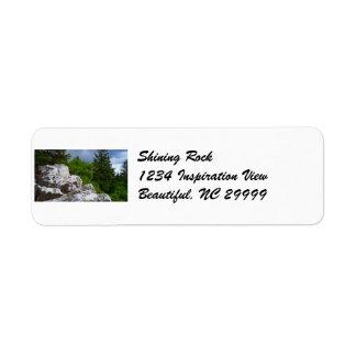 Shining Rock Address Label
