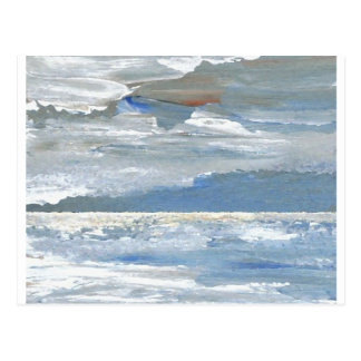 Shining Sea - Ocean Art Sea Waves Paintings Postcard