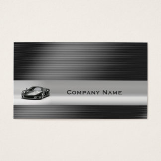 Shining Silver Line Sports Car Business Card