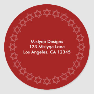 Shining Star Bar/Bat Mitzvah Address Labels