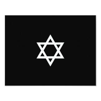 Shining Star Bar Mitzvah RSVP Card 11 Cm X 14 Cm Invitation Card