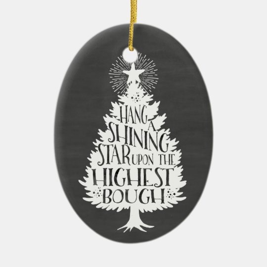 Shining Star Christmas Tree Chalkboard Keepsake Christmas