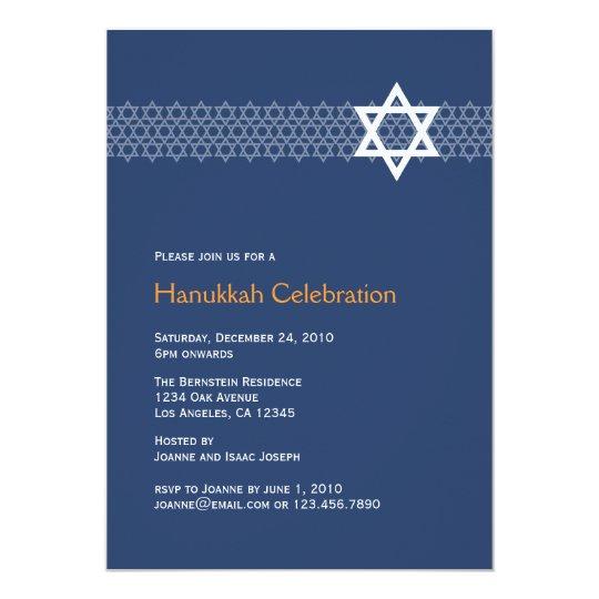 Shining Star Hanukkah Party Invitation