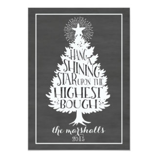 Shining Star Holiday Chalkboard 13 Cm X 18 Cm Invitation Card