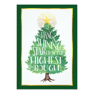 Shining Star Holiday Photo Card Double-Sided