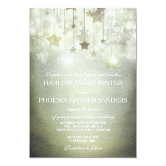 Shining Stars Wedding Invite