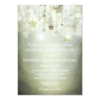 Shining Stars Wedding Invite