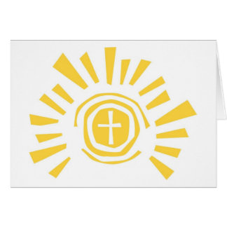 Shining Sun with Cross Cut Out Greeting Card