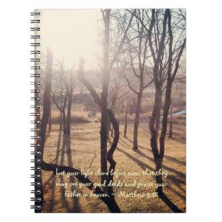 Shining Through Journal Spiral Note Book