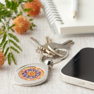 Shining Through Mixed Media Mosaic Key Ring
