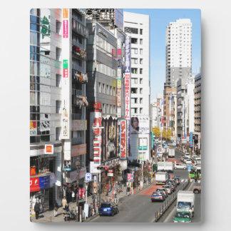 Shinjuku district in Tokyo, Japan Plaque