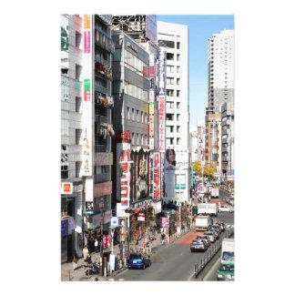 Shinjuku district in Tokyo, Japan Stationery