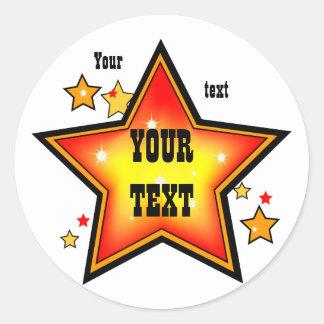 Shinning Star Award Sticker Template