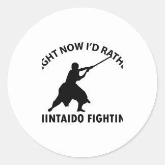 SHINTAIDO Designs Round Stickers