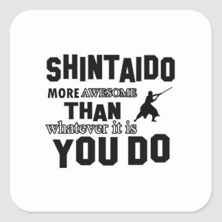 shintaido MARTIAL arts gifts Square Stickers