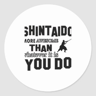 shintaido MARTIAL arts gifts Round Sticker
