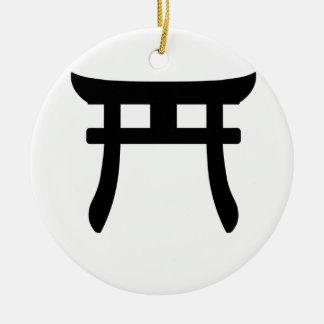 Shinto Symbol Round Ceramic Decoration
