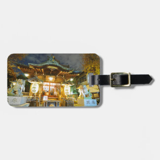 Shinto temple in Tokyo, Japan Luggage Tag